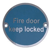 Fire door keep locked symbol