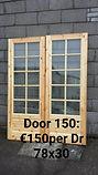 Prefinished Red Deal Glazed Door
