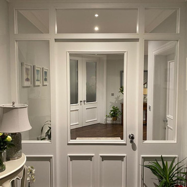 Oversized (8ft) Bespoke 3 panel Door with side and overhead panels
