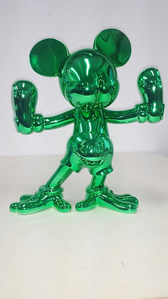Green Freaky Mouse by Fidia Falaschetti