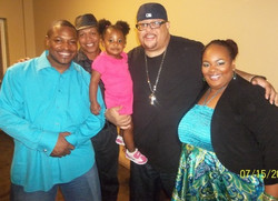Raymond & Kim with Fred Hammond