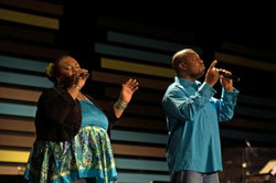 Performing at Fred Hammond Concert