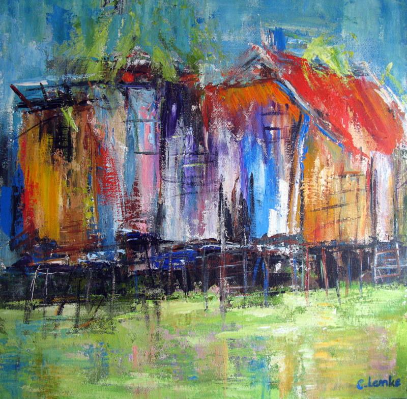 Piles Houses Vietnam