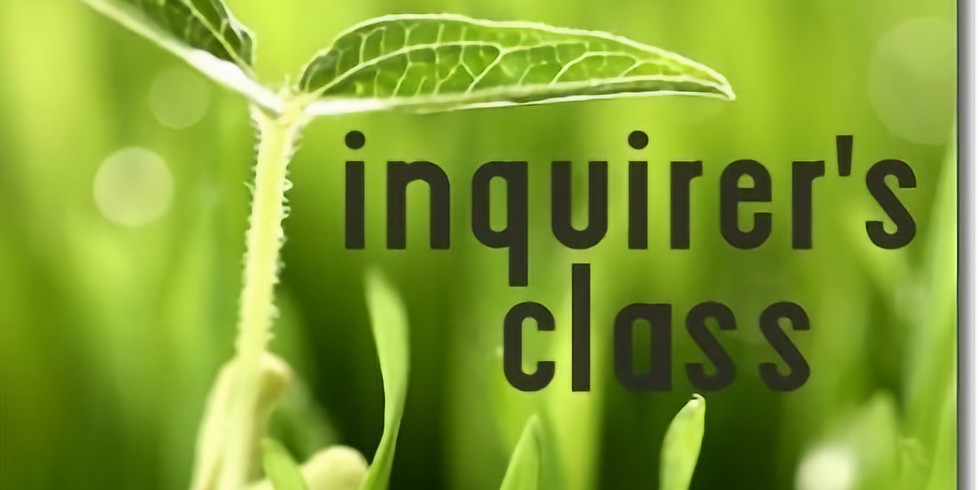 Inquirers' Classes (1)