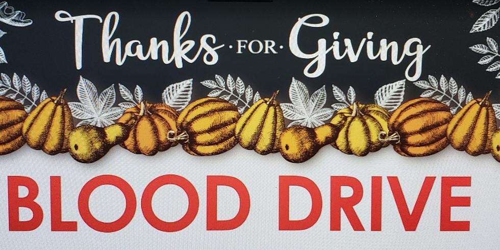 Blood Drive Nov. 7th 8:00 AM until 2:00 PM