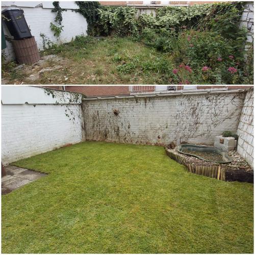 Création de pelouses