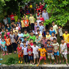 Children & Sister Marie Huu, Lai Thieu, HCMC, Vietnam