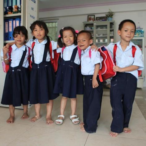 School children of Mai Tam Center, HCMC, Vietnam