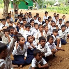 School children, Kok Chor, Cambodia