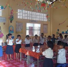 Class room AKfC school, Kok Chor, Cambodia