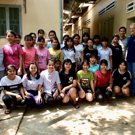 Girls from Dak To Center, Kon Tum Province, Central Highlands, Vietnam