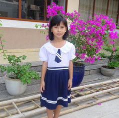 Mai in school uniform @ Lai Thieu, HCMC, Vietnam