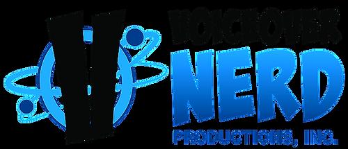 Voiceover Nerd Productions, Inc. Logo. Designed by Rachel Crabill https://rachelcrabill.com/ Shawn Fitzmaurice