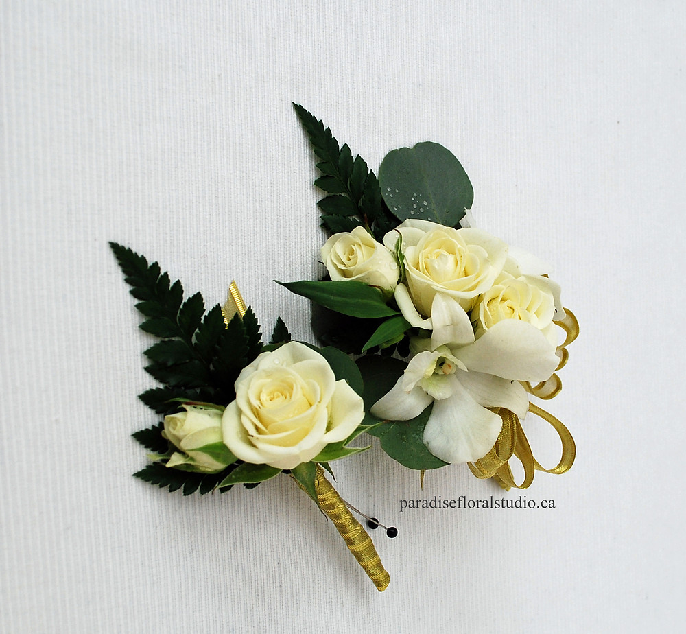 Pin on coursage and boutonniere