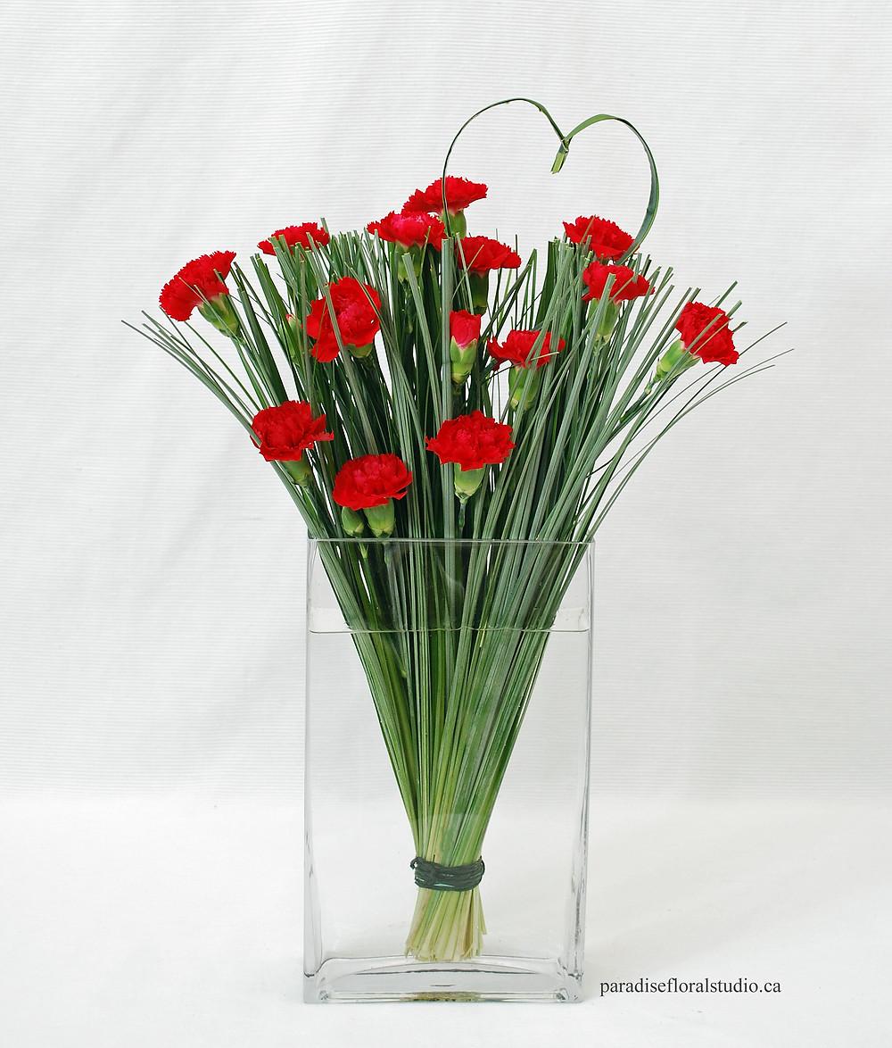 Red valentine flowers