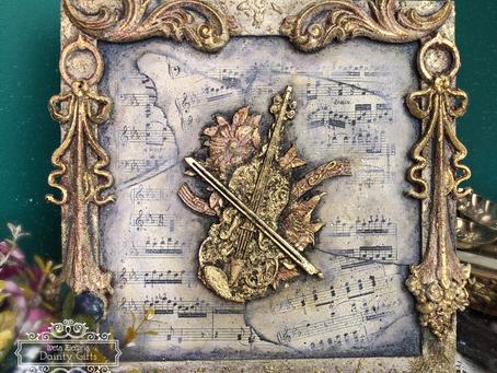 Vintage Sheet music Frame