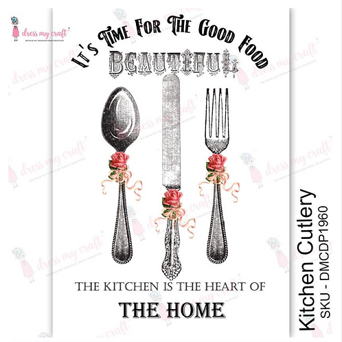 Kitchen Cutlery - Transfer Me by Dress My Craft