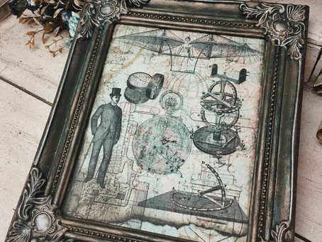 Up-cycled Decoupage Picture Frame