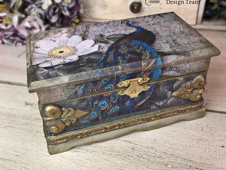 Rice Paper Decoupage Jewellery Box
