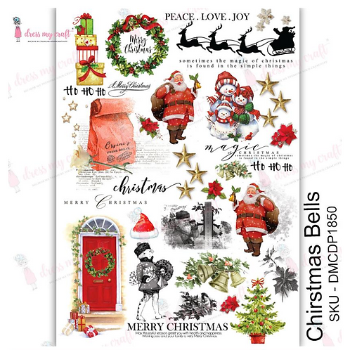 Christmas Bells - Transfer Me by Dress My Craft