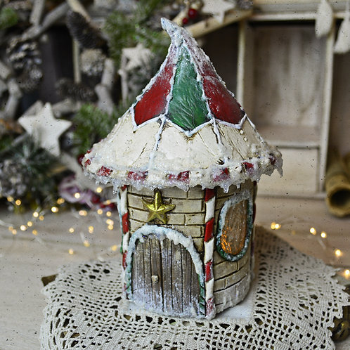 Light Up Glass Jar Elf House Workshop (RECORDING)