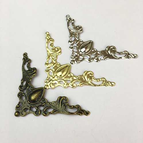x4 Decorative Corners -  Brass/Silver/Gold