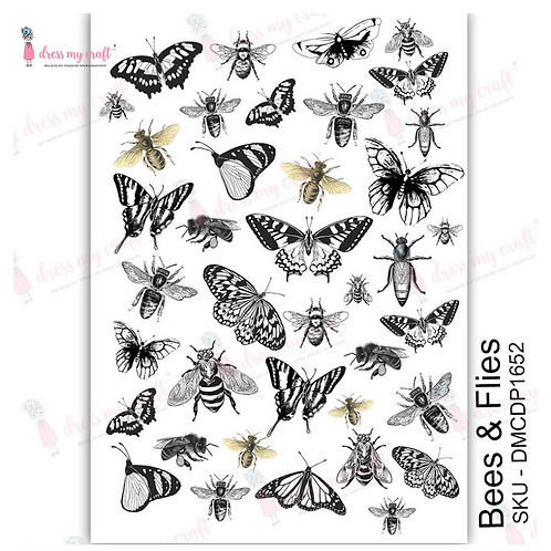 Bees and Flies - Transfer Me by Dress My Craft