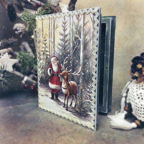 Christmas Fairytale Book  Keepsake Box