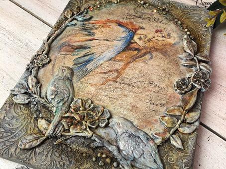 BlueBird Queen Canvas
