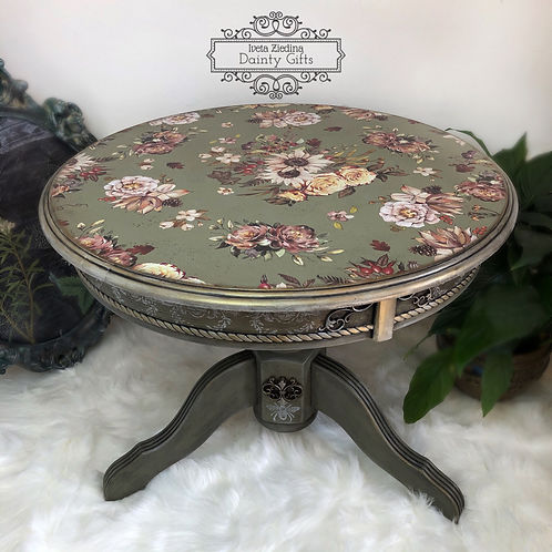 Upcycled Round Coffee Table
