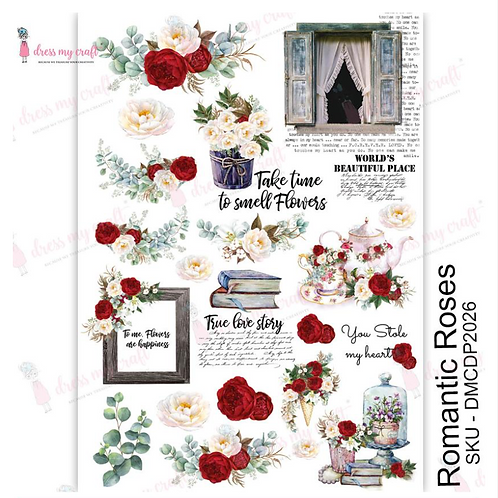 Romantic Roses - Transfer Me by Dress My Craft