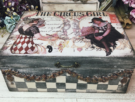 Decoupage Box With Rice Paper