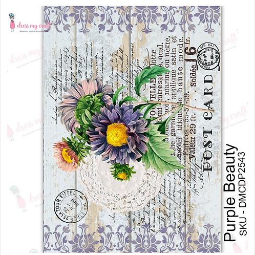 Purple Beauty  - Transfer Me by Dress My Craft