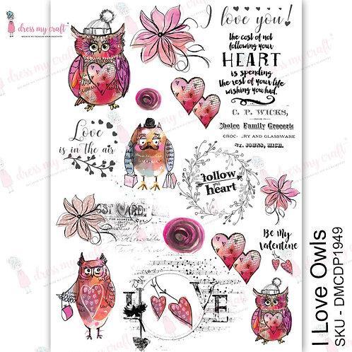 I love Owls - Transfer Me by Dress My Craft