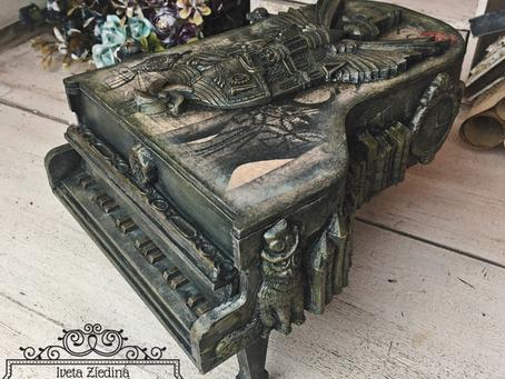 Steampunk & Decoupage Piano Box