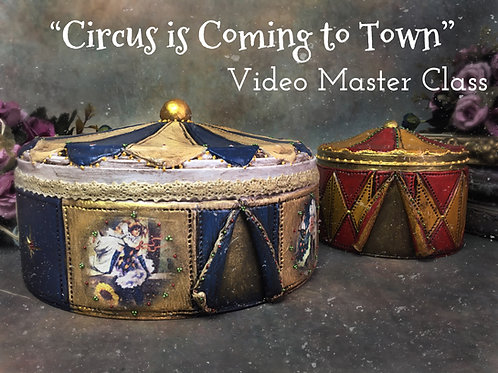 """Circus is Coming to Town"" Decor on Metal tin Master class"