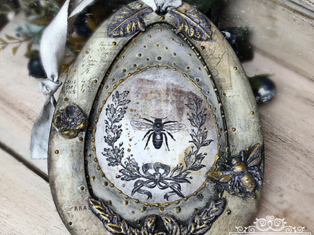 French Country Inspired Easter Egg