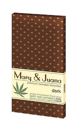 Mary & Juana Dunkle Schokolade mit Cannabis Samen