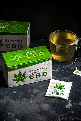 Cannabis Tea mit 1.5g CBD pro Beutel