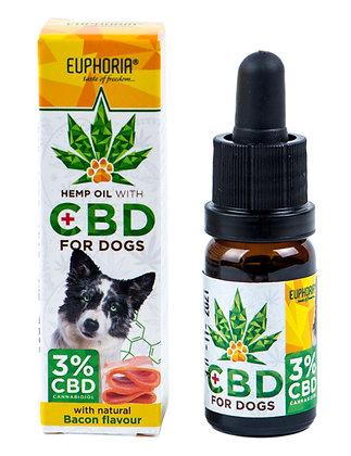 CBD Euphoria Hanföl für Hunde 3%