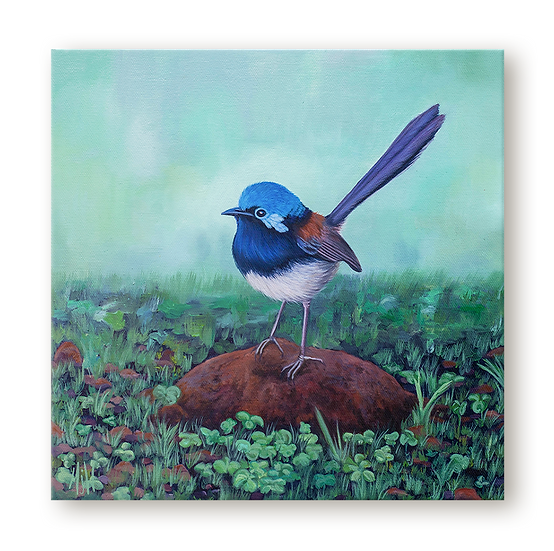 Red Winged Wren Original Oil Painting