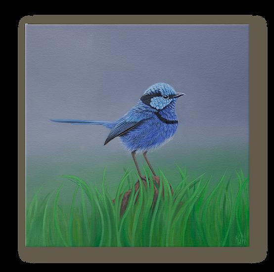 Papa Blue Original Oil Painting