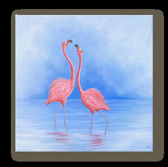 Flamingo Dance Original Oil Painting
