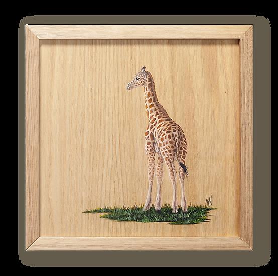 Baby Giraffe Original Oil Painting