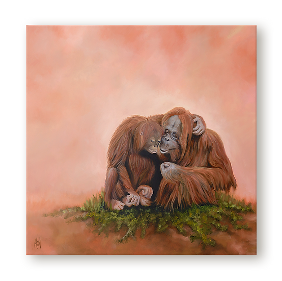 The Two of Us Original Oil Painting