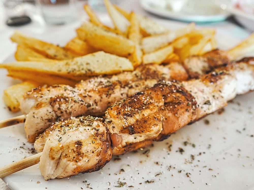 souvlaki, pincho, brocheta, Grecia, cocina, gastronomía, carne