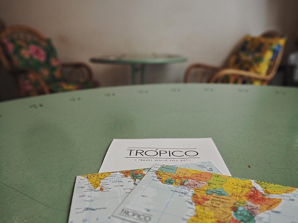 brunch tropical, mapa, mundo, viajar, gastrocuentos, trópico