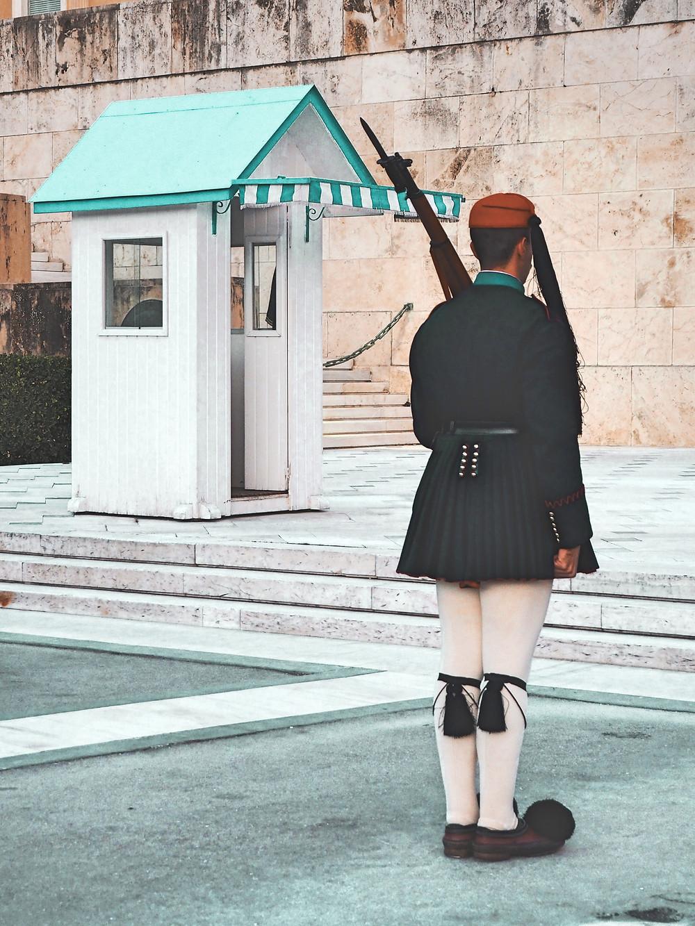 guardia, soldados, guardias, Atenas, Grecia, evzones