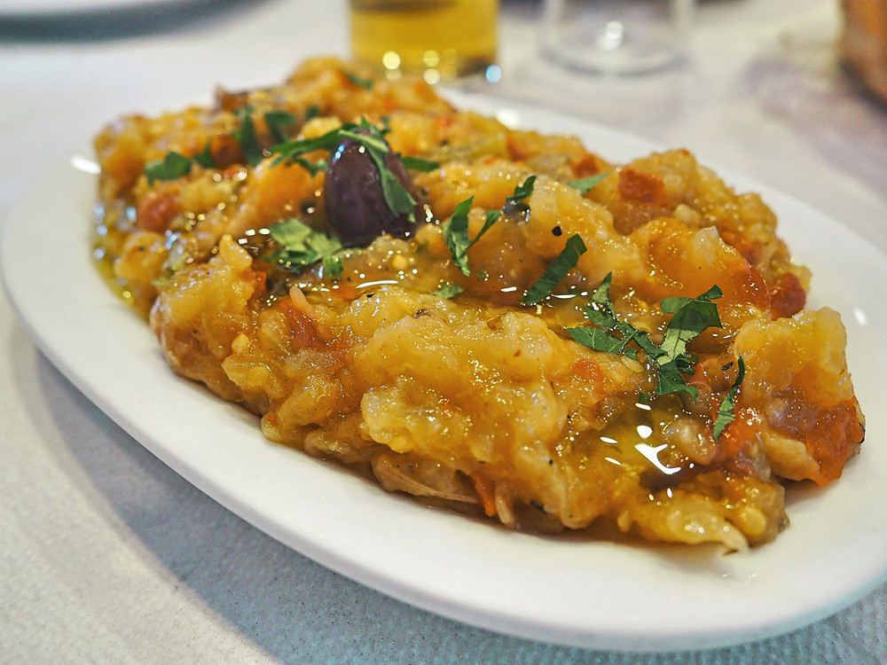 Melitzanosalata, Grecia, berenjena, ensalada, mezze