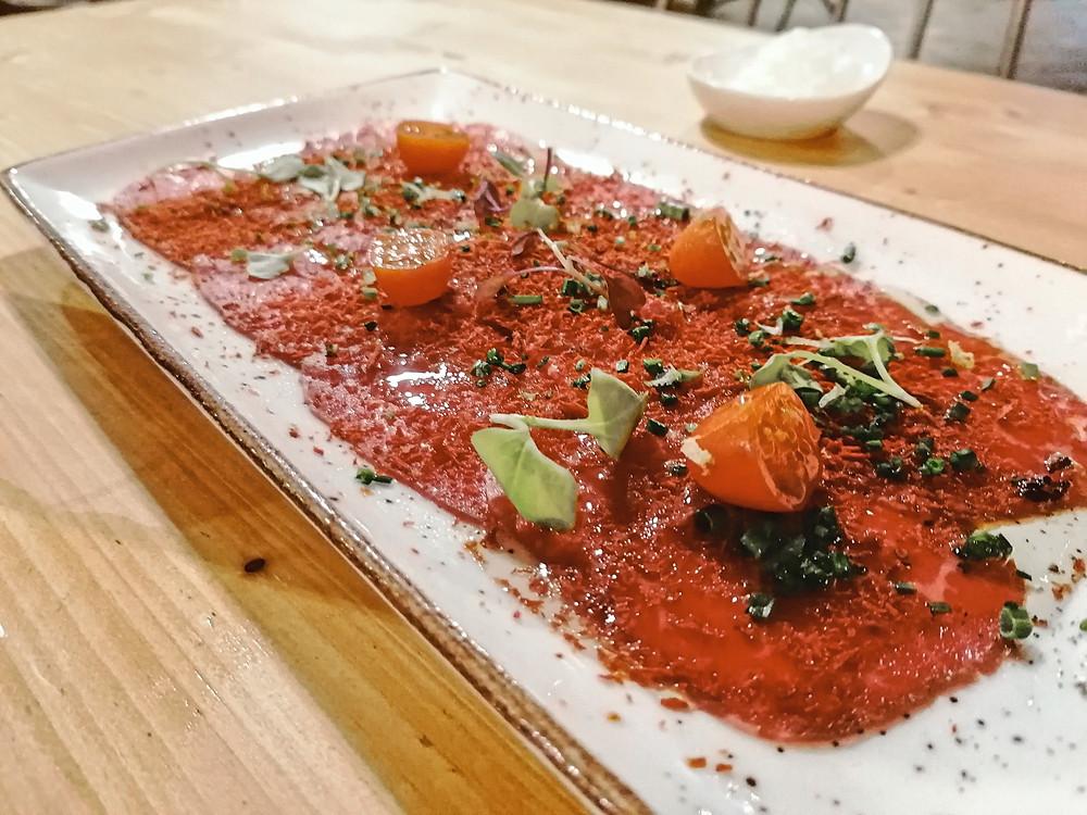 carpaccio, wagyu, dilicioso, restaurante, Sitges